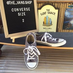 Converse All Star Canvas Low Top Sneakers Size 2